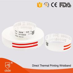 AIDE Adhesive Closure Thermal Printing Medical Wristbands #wristbands #medical #healthcare #patientidentification