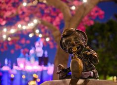 Pinocchio statue at Disneyland. Photo taken with the Sigma 30mm f/1.4 lens. Lens review: http://www.disneytouristblog.com/sigma-30mm-f1-4-le...