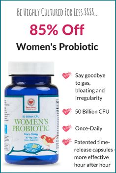 https://www.bestnestwellness.com/pages/womens-probiotic-big-flash Crafted with 13 strains specifically chosen to boost women�s health, our probiotic blend packs 50 billion CFUs in a once a day delayed release capsule. Now 85% Off! Claim your bottle today!
