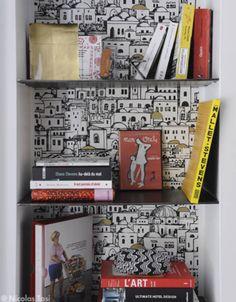 A la niche ! - Le rêve américain - Elle Décoration Living Room Lounge, New Living Room, Cole And Son Wallpaper, Wall Storage, Paint Colors, Inspiration, Lounges, Home Decor, Room Ideas