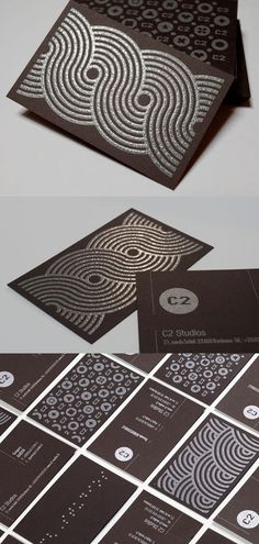 """C2 Studios Card    Add This Card to your Blog (Copy & Paste)     07.08.11  C2 Studios Card    Beautifully designed identity cards for C2 Studios.  The cards were printed on """"Pop'set Old Brown"""" paper 400gr.    We chose the metallic pantone 877, reinforced on the back with a thermographic process on the pattern.    By C2 Studios    For C2 Studios              StumbleUpon      del.icio.us"""