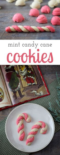 Delight kids and the young at heart this Christmas with Peppermint Candy Cane Cookies. A classic Christmas cookie, perfect for the holidays. via @HTTP://www.pinterest.com/fireflymudpie/