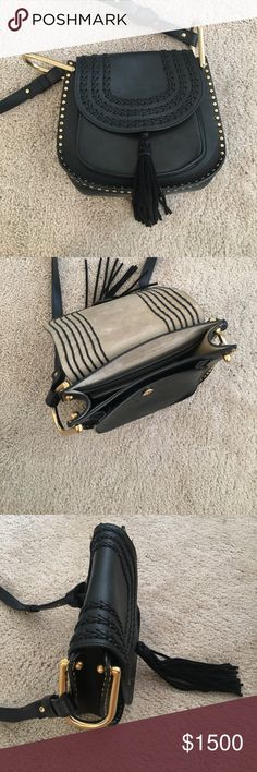 Chloe bag! Authentic. Black. Black Chloe bag minor wear and tear. No major defects. Gold trim Chloe Bags Crossbody Bags