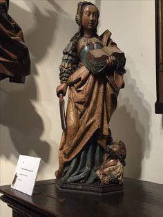 St Catherine Of Alexandria, Medieval, Saints, Sculpture, Statue, Book, Sculptures, Mid Century, Sculpting
