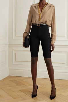 The Winter Shop | What to Wear | NET-A-PORTER Fashion Advice, Fashion News, Fashion Online, Cycling Shorts, Luxury Fashion, Womens Fashion, Top Designer Brands, Silk Crepe, Blouse Styles