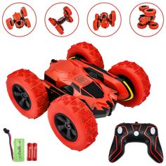 Rainbrace Kids Remote Control Car for Boys Wall Climbing Rechargeable Stunt RC Cars Toys Gifts for Boys Age 6-10 Year Old Black