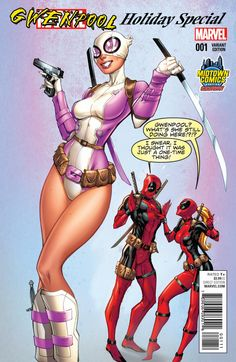 Gwenpool Special #1 Midtown Exclusive variant cover by J. Scott Campbell *