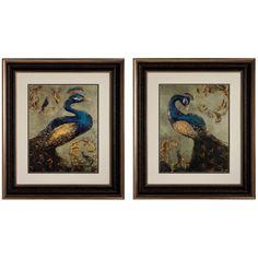 Propac Images - 31X27 PEACOCK I/II On Our Showroom Floor!  We Love Birds!