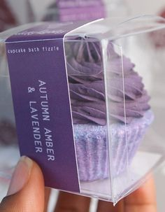 cupcake bath fizzie  autumn amber and lavender by yourdirtylaundry, $5.00
