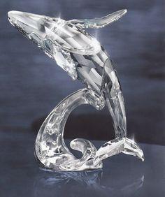 2012 SCS Annual Edition Humpback Whale Paikea + FREE MIRROR.  Swarovski Crystal Figurine.