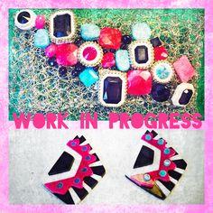 #newcollection, #bijouxespresso, #handmade, ##colors, #swarovski, #stone, #crochetmania, #plexiglass, #metalhandbag, #earrings
