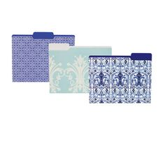 office max folders blue white china