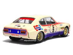 Ford Capri 2600 LV Pepsi Spa 1973 by SRC Slot Car Tracks, Slot Cars, Cool Car Pictures, Car Pics, Police Cars, Race Cars, Vw Racing, Offshore Boats, Mercury Cars