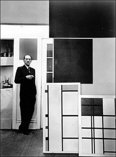 Even at leisure, Mondrian bled balance. Utmost respect for Piet Mondrian.
