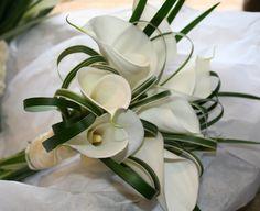 Calla lilies and china grass