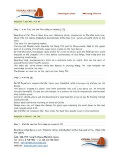 bassac-cruise-02days by Vietnam Cruises via Slideshare