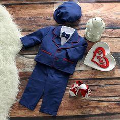 Special Occasion Boys Navy Blue Suit – BabyUniqueCorn
