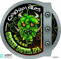 Oakham Ales Green Devil pumpclip- I just love all their pump clips, eye catching, bold and consistant.