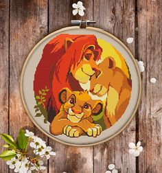 This is modern cross-stitch pattern of Lion the King for instant download. Nice and joyful version of Disney cartoon. A cool tip to decorate a kids room. You will get 7-pages PDF file, which includes: - main picture for your reference; - colorful scheme for cross-stitch; - list