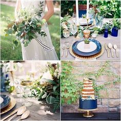 Sophisticated Navy Wedding Inspiration Shoot