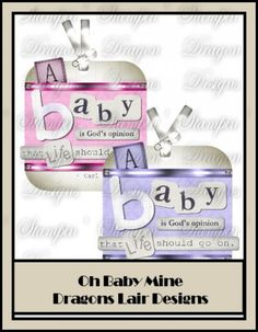 Oh Baby Mine Collection - Baby Tags