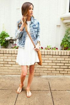 outfit idea with denim jacket