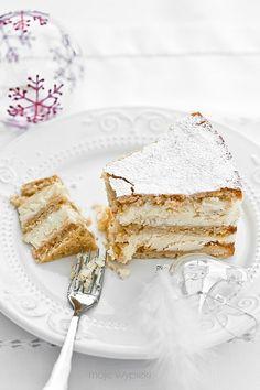 Sernik gotowany Raw Food Recipes, Cooking Recipes, Food Photography Tips, Polish Recipes, Best Dishes, No Bake Treats, Let Them Eat Cake, Cheesecakes, Vanilla Cake
