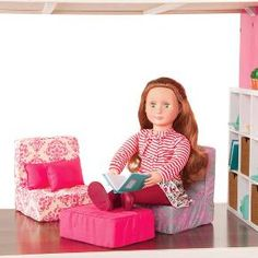 Our Generation Dollhouse Furniture - Living Room Set