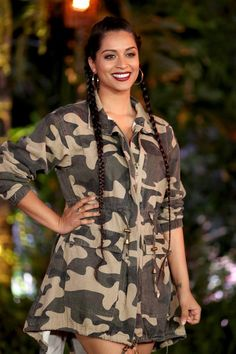 "Lilly Singh Photos - Lilly Singh attends the premiere of Columbia Pictures' ""Jumanji: Welcome To The Jungle"" on December 2017 in Hollywood, California. - Premiere of Columbia Pictures' 'Jumanji: Welcome to the Jungle' - Arrivals Hollywood California, In Hollywood, Lilly Singh Quotes, Lily Singh, Famous Youtubers, Army Clothes, Welcome To The Jungle, December 11, Columbia Pictures"