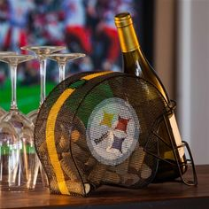Pittsburgh Steelers Cork and Bottle Holder...... LOVE IT!