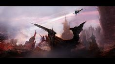The spaceships and alien worlds of Thomas Pringle Concept Art World, Fantasy Concept Art, Environment Concept, Environment Design, Art Thomas, Alien Worlds, Cg Art, Matte Painting, Environmental Art
