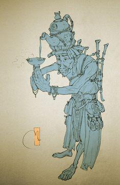 Tea God (lineart) by Sidxartxa.deviantart.com on @deviantART