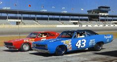 Richard Petty 43 Plymouth  Al Unser Dodge 1968