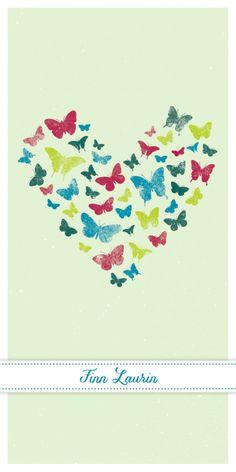 Geburtskarten A6/5 - Butterfly (Green) Wunderhübsche Geburtskarte mit süssen Schmetterlingen! Perfekt für Ihr kleines Wunder…! #cardswithlove