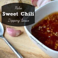 Paleo Sweet Chili Dipping Sauce Stupid Easy Paleo - Easy Paleo Recipes to Help You Just Eat Real Food Check out the website to see Chili Dip, Paleo Recipes Easy, Whole Food Recipes, Cooking Recipes, Primal Recipes, Stupid Easy Paleo, Paleo Sauces, Vegetarian Sauces, Sweet Chili
