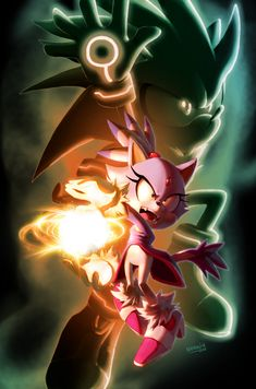 Blaze and Silver Sonic the Hedgehog 20th Anniversary fan arts ©1991-2011 SEGA By Nerkin 2011