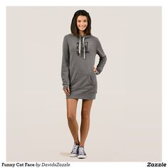 Funny Cat Face Women's Dress Hoody Available on many products! Hit the 'available on' tab near the product description to see them all! Thanks for looking!  @zazzle #art #cute #cartoon #funny #cat #cute #pet #friend #family #drawing #digital #black #sweet #nice #friend #women #men #kids #clothes #fashion #style #apparel #tee #tshirt #hoody #sweatshirt #shop #gift #idea #shopping #buy #sale