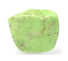 Rare Gaspeite Rustic Apple Green Drilled Bead by FenderMinerals