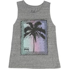Billabong Women's Palm Poster Muscle Tee found on Polyvore