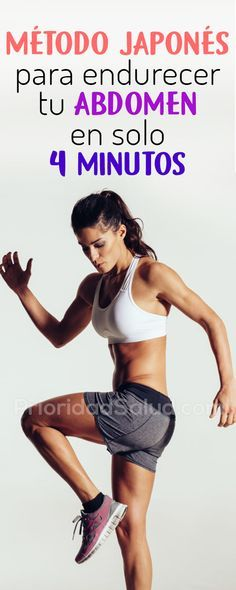 Método japonés para endurecer tu abdomen en solo 4 minutos #tabata