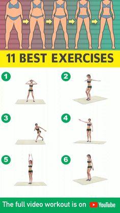 Fitness Workouts, Fitness Herausforderungen, Gym Workout Videos, Gym Workout For Beginners, Fitness Workout For Women, Fitness Motivation, Monday Motivation, Exercise Workouts, Health Fitness