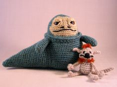 PDF of Jabba the Hutt  Star Wars Mini Amigurumi von lucyravenscar, £2.20. Not available right now. But I'd love to make them both!