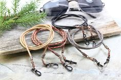 Rustic Braided Leather Eyeglass Holder, Mens Eyeglass Chain, Glasses Chains, Men's Leather Sunglasses Chain, Accessories Gifts for Men Leather Lanyard, Leather Cord, Leather Men, Black Leather, Men Eyeglasses, Eyeglass Holder, Chains For Men, Braided Leather, Mens Sunglasses