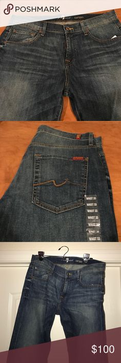 "Brand new 7 For all mankind ""carsen"" jeans Brand new 7 for all mankind jeans size 33 waist! 7 For All Mankind Jeans Straight"