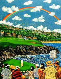 Kapalua At the 5th Hole | Guy Buffet | Fine Art 360 #golfing #art #painting #hawaii