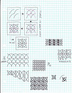 Zentangle Pattern Gallery | Zentangle Patterns