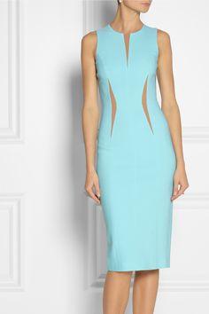 Michael Kors | Wool-blend crepe sheath dress | NET-A-PORTER.COM