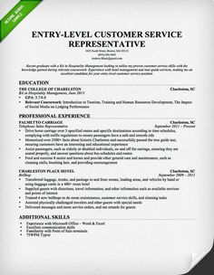 entry level customer service resume download this resume sample to use as a template - Customer Service Resumes