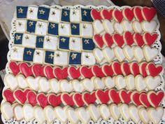 Bandera para actividad de primaria,stand de Estados Unidos, cookies
