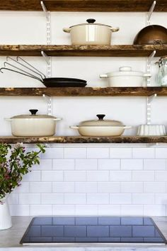 Le Creuset in a chic kitchen